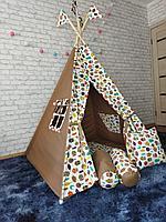 Детская палатка вигвам 4х гранный Милые Совы