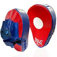 Лапа-перчатка для бокса вогнутая Everlast красная с синей перчаткой