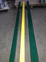 Столб опорный оцинкованный для панелей ограждения с цветным порошковым полимерным покрытием, 80х80мм