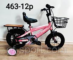 Велосипед Forever розовый оригинал детский с холостым ходом 12 размер