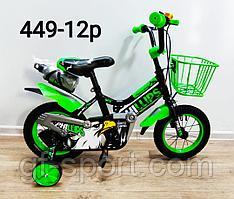Велосипед Phillips зеленый оригинал детский с холостым ходом 12 размер