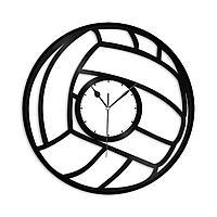 Настенные часы из пластинки Волейбол, подарок волейболисту, тренеру, фанату, любителю, 1375