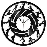 Настенные часы из пластинки Волейбол, подарок волейболисту, тренеру, фанату, любителю, 1376