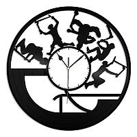 Настенные часы из пластинки Самокат трюковый, подарок тренеру, фанату, любителю, 1387
