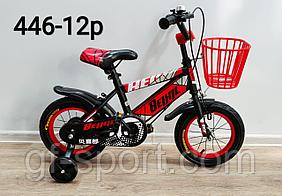 Велосипед BeixiL красный оригинал детский с холостым ходом 12 размер