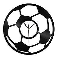 Настенные часы из пластинки Футбольный мяч, подарок тренеру, фанату, любителю, 1388