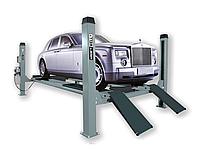 Подъемник четырехстоечный г/п 5500 кг. платформы для сход-развала KraftWell, фото 1