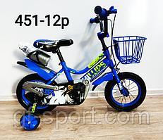 Велосипед Phillips синий оригинал детский с холостым ходом 12 размер