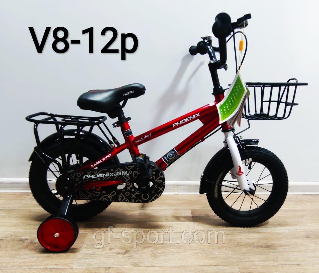 Велосипед Phoenix красный оригинал детский с холостым ходом 12 размер