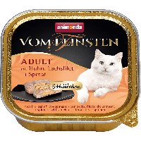 Консервы VOM FEINSTEN ADULT Меню для гурманов с курицей, филе лосося и шпинатом-100гр.