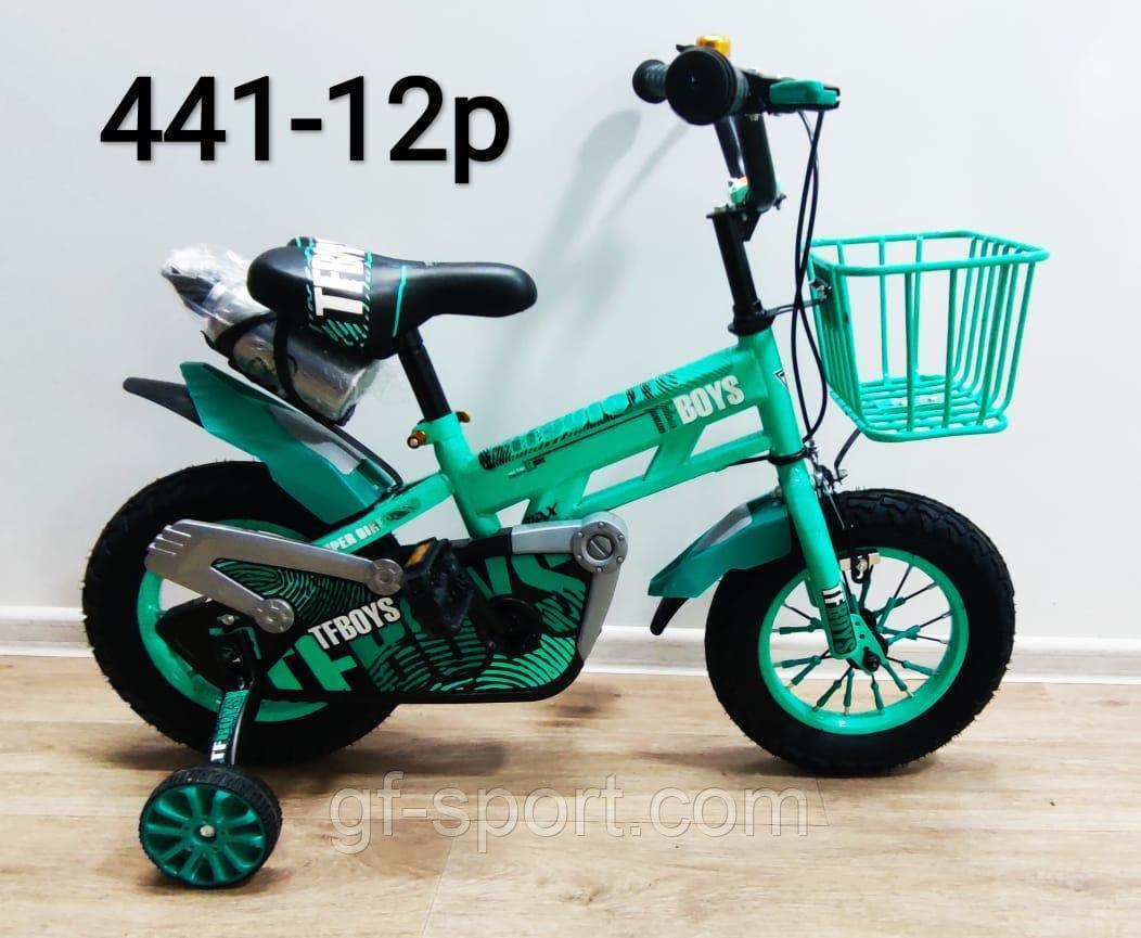Велосипед Phillips бирюзовый алюминиевый сплав оригинал детский с холостым ходом 12 размер