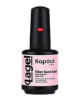 Файбер базовое покрытие с витаминами нежно-розовое Kapous «Fiber Base Coat with vitamins Light Pink», 15 мл