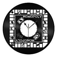 Настенные часы из пластинки игра Монополия, подарок фанатам, любителям, 1362