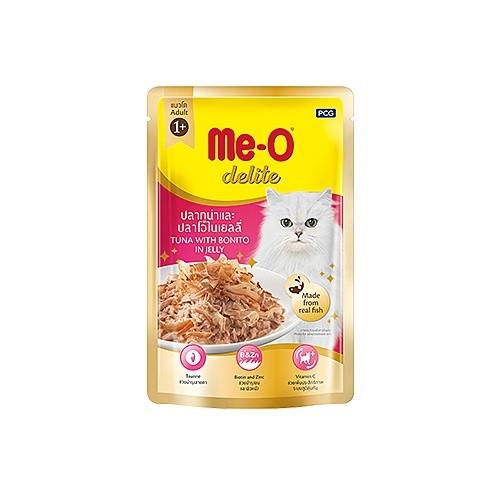 Me-O Delite с тунцом и атлантической пеламидой в желе, пауч 70г