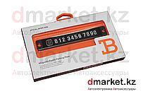 Автовизитка на лобовое стекло, крепление присоска, цифры на магните, фото 1