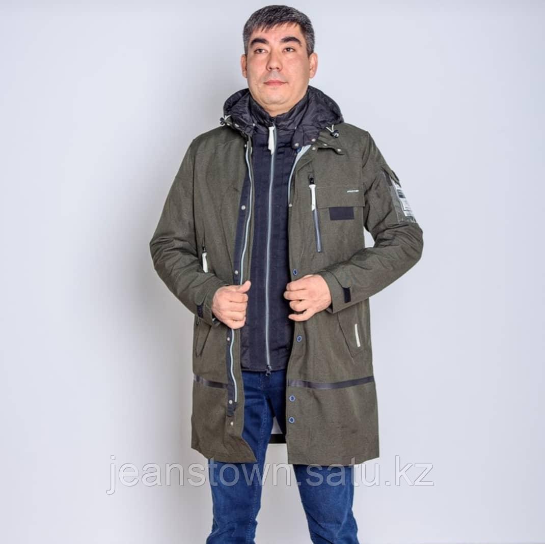 Куртка мужская демисезонная Shark Force длинная хаки - фото 3