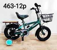 Велосипед Forever зеленый оригинал детский с холостым ходом 12 размер