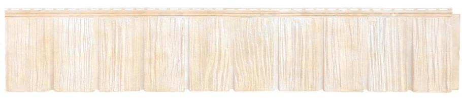 """Панель фасадная  """"ЯФАСАД"""" Сибирская дранка Слоновая кость 257x1631 мм Grand Line"""