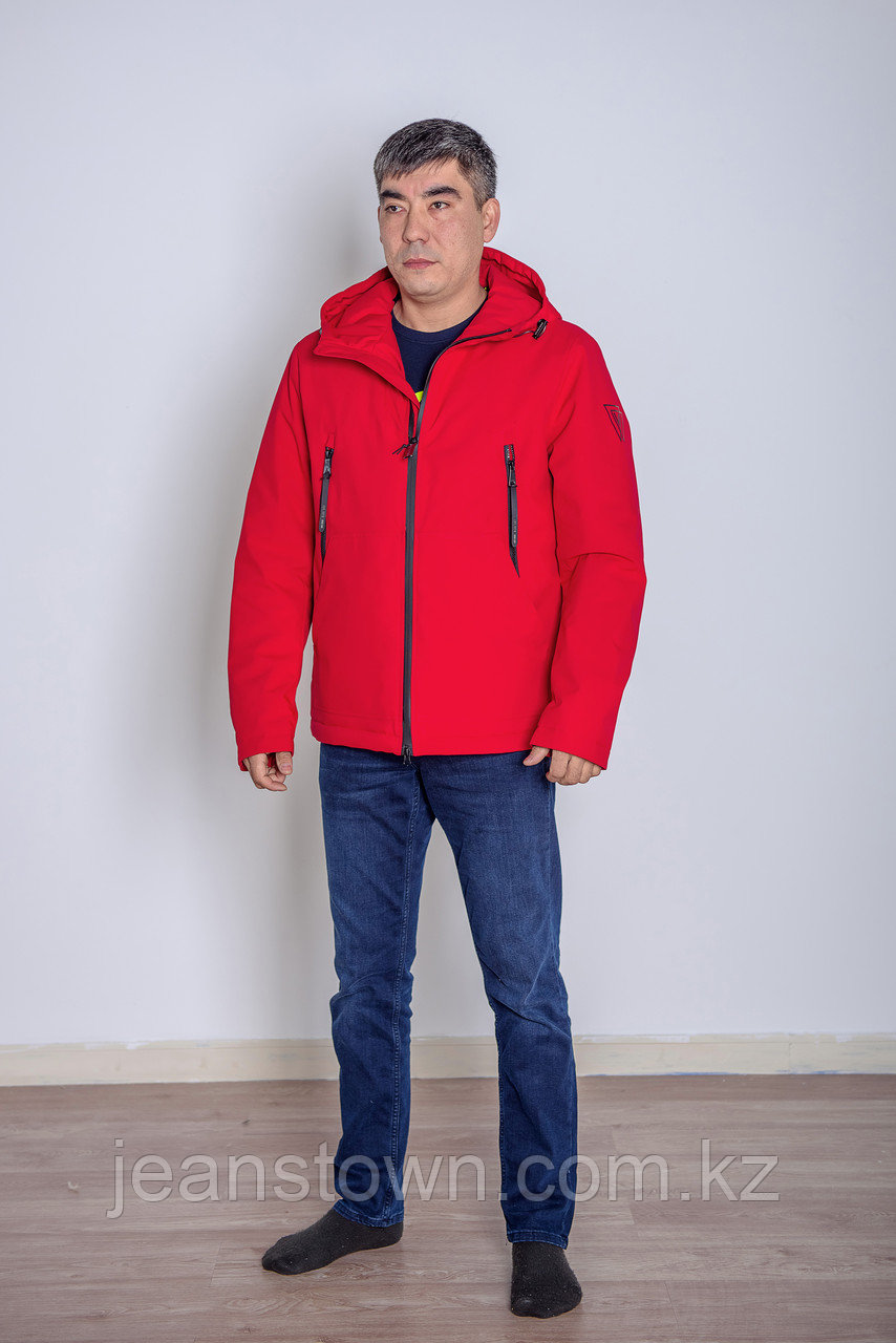 Куртка мужская демисезонная Vivacana красная короткая - фото 2