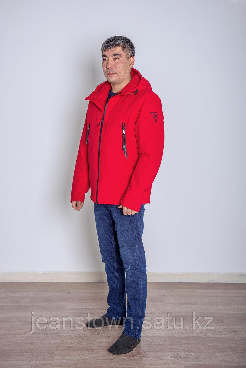 Куртка мужская демисезонная Vivacana красная короткая - фото 3