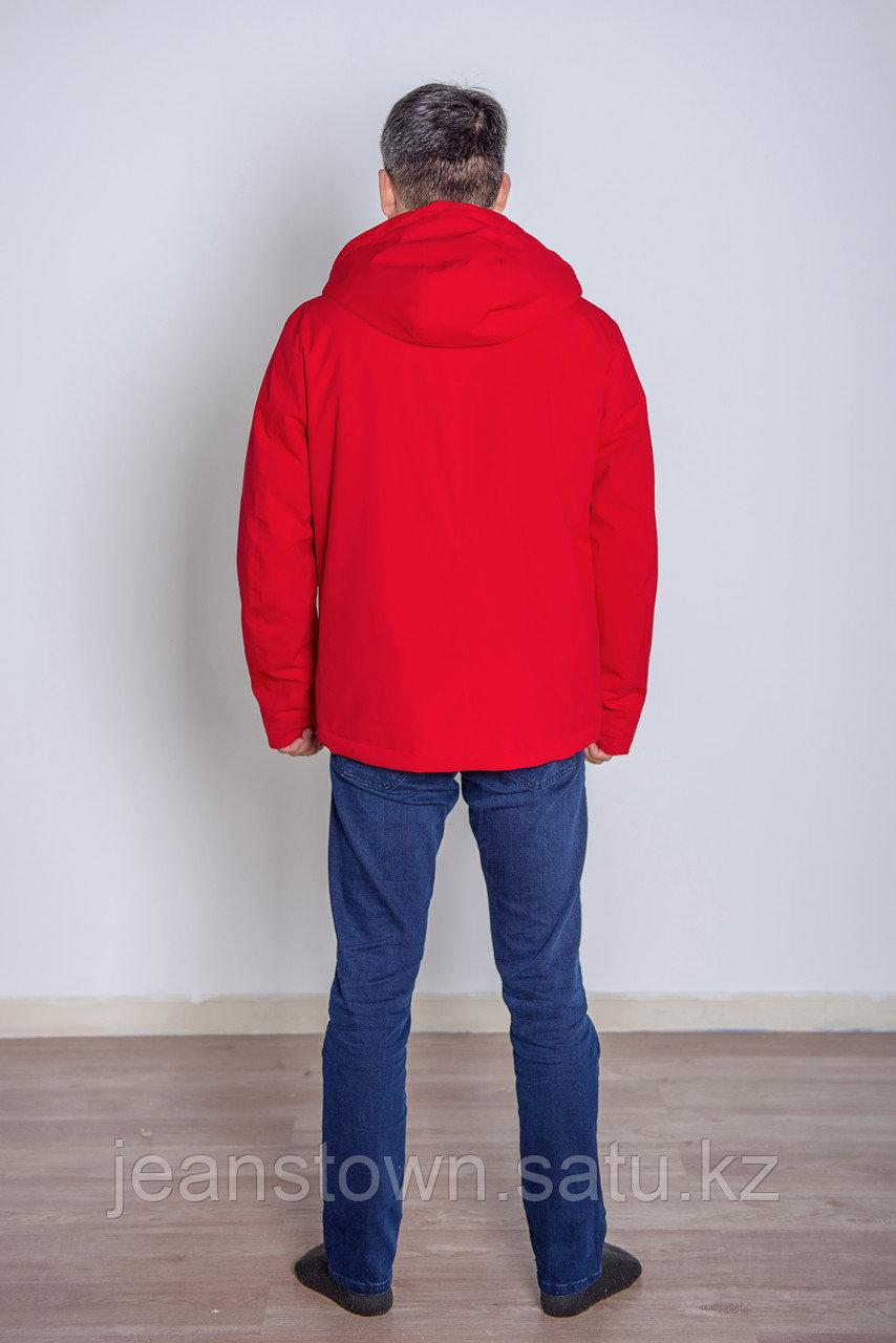 Куртка мужская демисезонная Vivacana красная короткая - фото 4