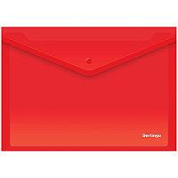 Папка-конверт на кнопке Berlingo, А4, 180мкм, красная