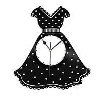Настенные часы из пластинки Платье, подарок дизайнеру одежды, магазин женской одежды, 1382