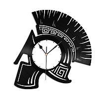 Настенные часы из пластинки Спартанец, шлем воина, 1386