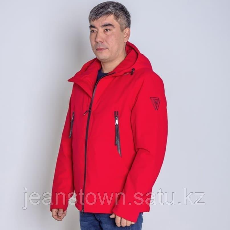 Куртка мужская демисезонная Vivacana красная короткая - фото 1