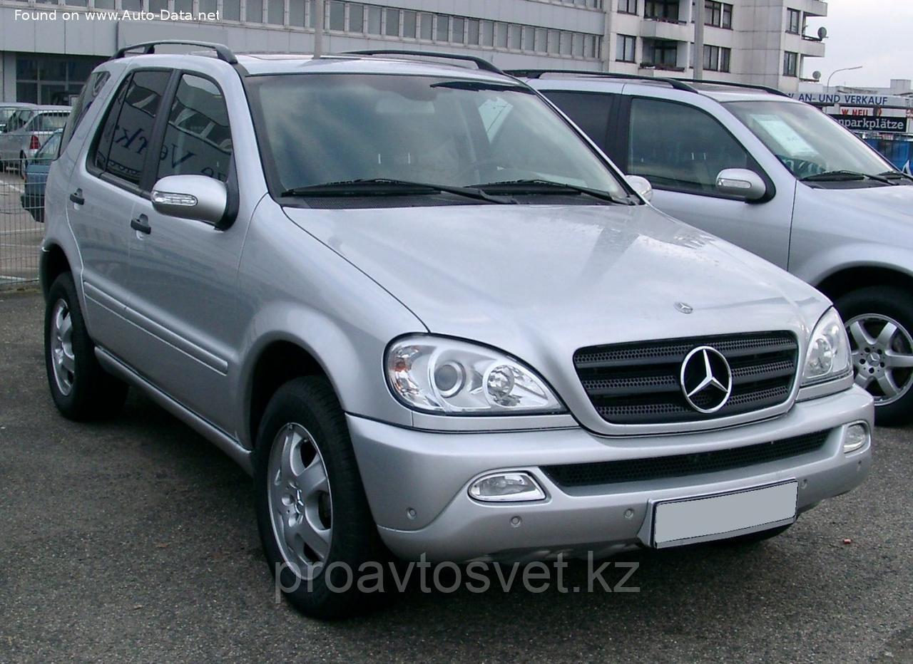 Переходные рамки на Mercedes-Benz M-class ML I (W163) рестайл (2002-2005) для установки модулей Hella 3/3R