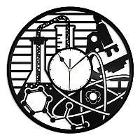 Настенные часы из пластинки Химия, подарок химику, кабинет химии, учителю химии, 1417