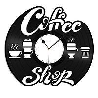 Настенные часы из пластинки Coffee Shop Кофейня, 1420