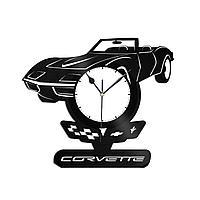 Настенные часы из пластинки Chevrolet Corvette Шевроле Корвет, подарок владельцам, любителям, автомобиль, 1423