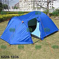 Двухслойная палатка на 4-х человек Tuohai-1036. 400х240х180 см. Доставка.