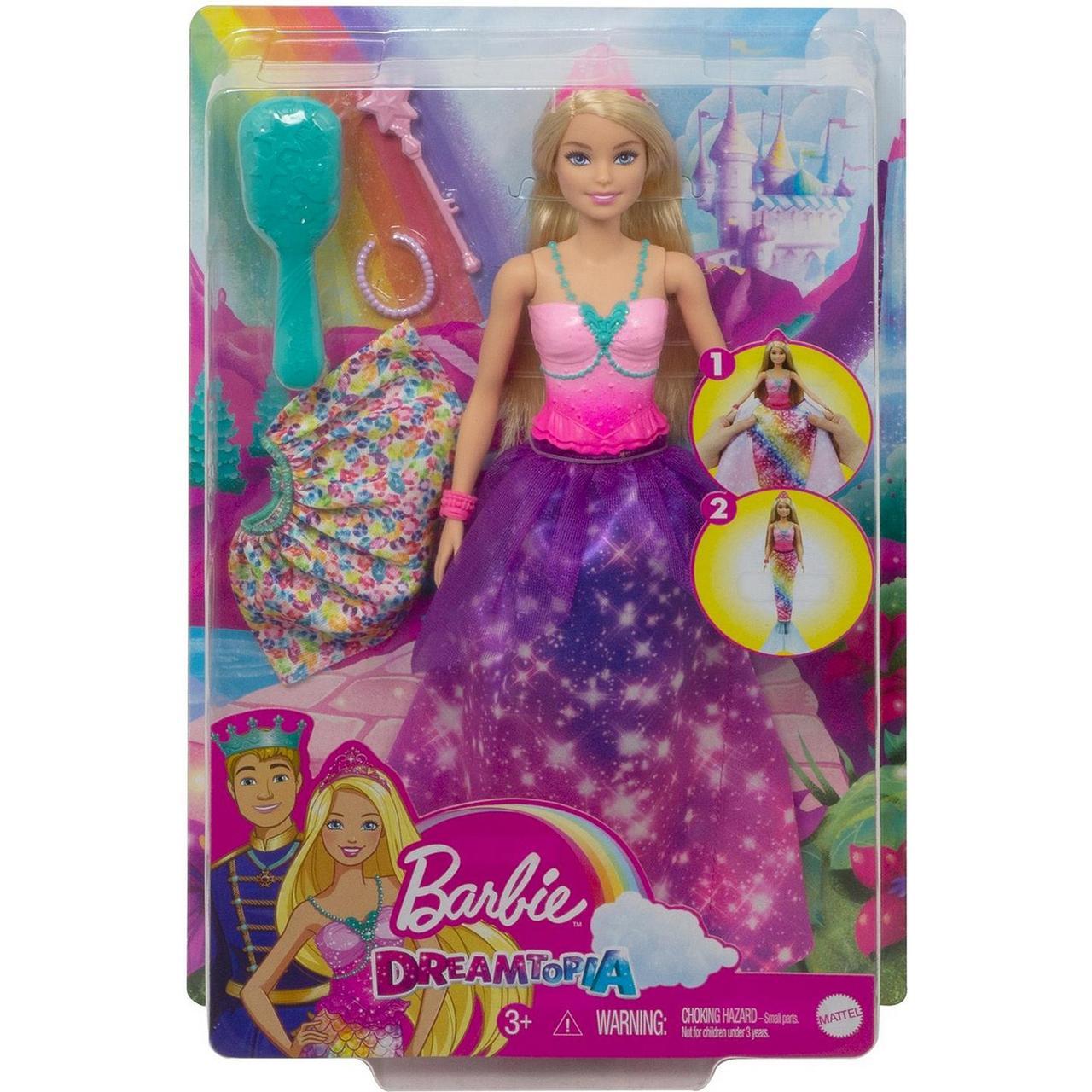 "Barbie ""Дримтопия"" Кукла Барби Принцесса 2 в 1"