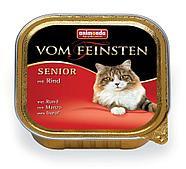 Консервы для пожилых кошек c говядиной, паштет Vom Feinsten - 100 гр