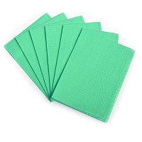 Салфетки 33*45 нагрудные ламинированные зеленые