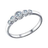 Кольцо из серебра с фианитом SOKOLOV 94011317