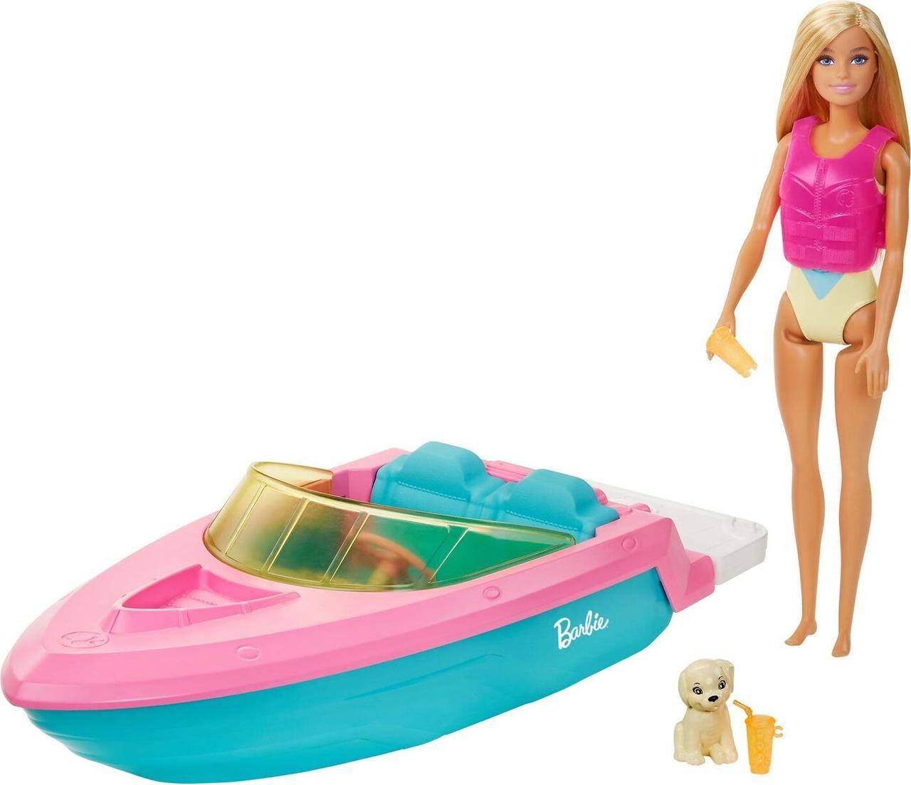 Barbie Лодка с куклой Барби