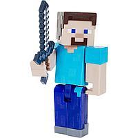 Minecraft Фигурка Майнкрафт Стив с аксессуарами, 9 см