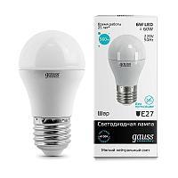 Лампа светодиодная Gauss E27 6W 4100K матовая 53226