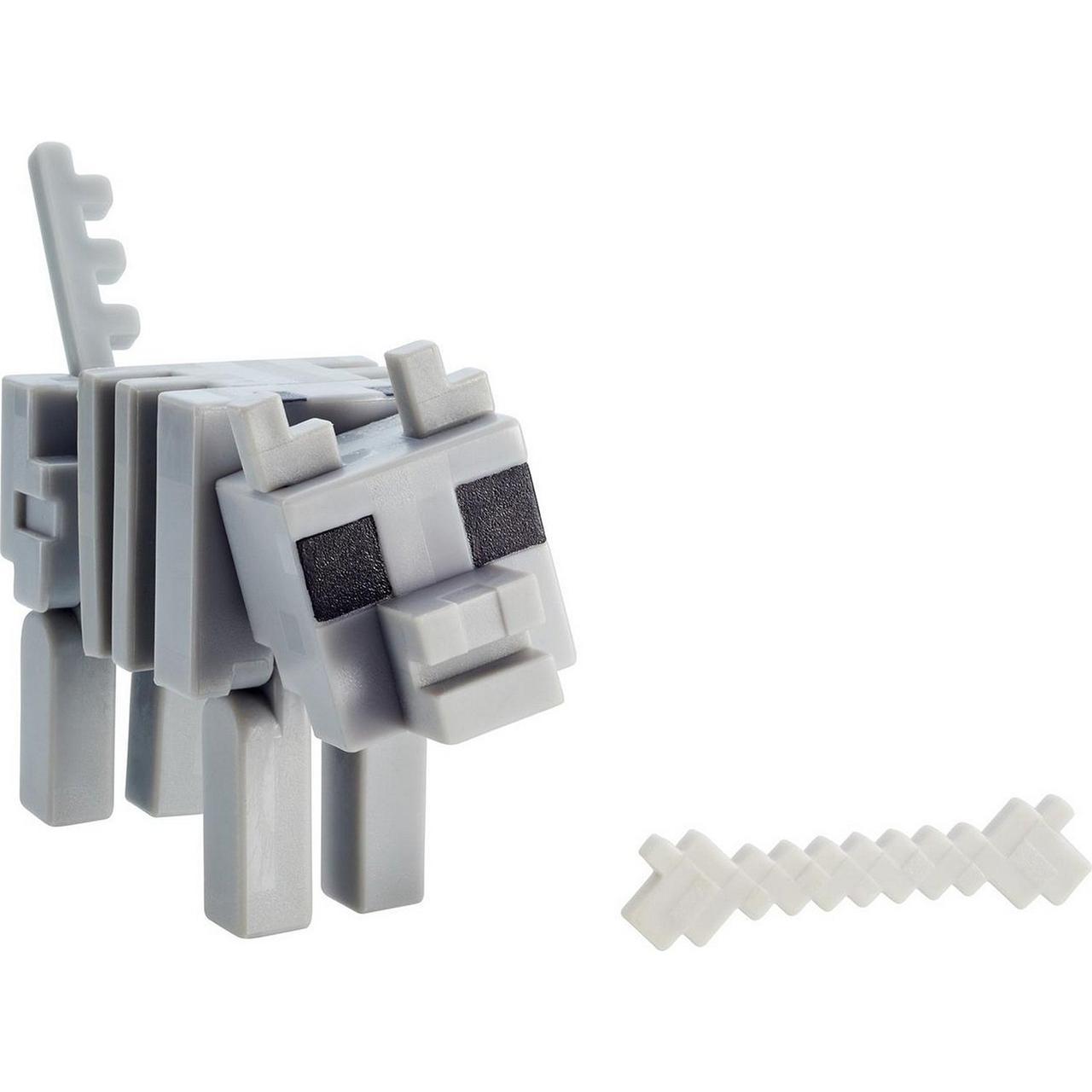Minecraft Фигурка Майнкрафт Волк-Скелет, 7 см