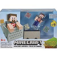 Minecraft Набор Разрушителя Майнкрафт с вагонеткой и пускателем, GVL55