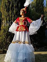 Длинное казахское платье пошив
