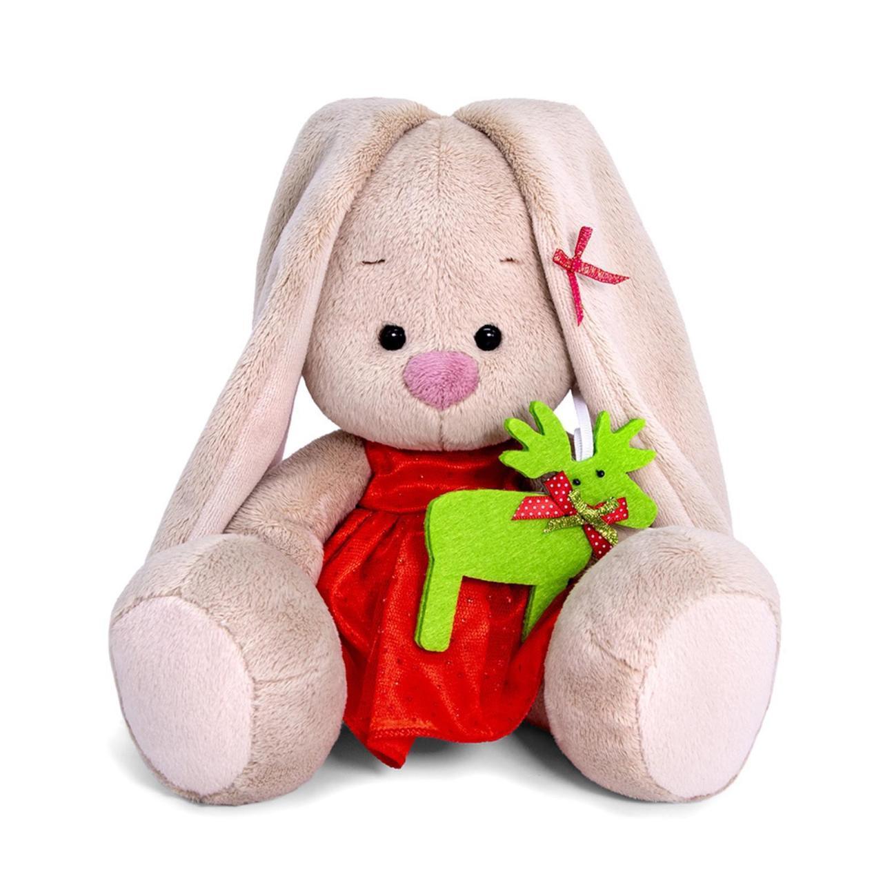 """Мягкая игрушка """"Zaika Mi"""" Зайка Ми в красном платье (малыш)"""