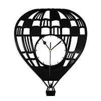 Настенные часы из пластинки Воздушный шар, подарок пилоту воздушного шара, фанату, любителю, 1452
