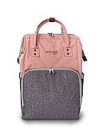 """Сумка - рюкзак для мамы """"Osaka"""", серо-розовый (Unicare, Япония)"""