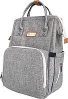 """Сумка - рюкзак для мамы """"Osaka"""", серый (Unicare, Япония)"""
