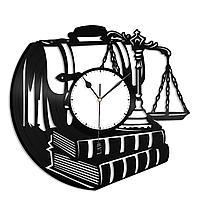 Настенные часы из пластинки Правосудие, подарок юристу, адвокату. судье, прокурору 1466