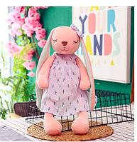 Игрушка ушастый зайчик, кролик, мягкий. 53 см